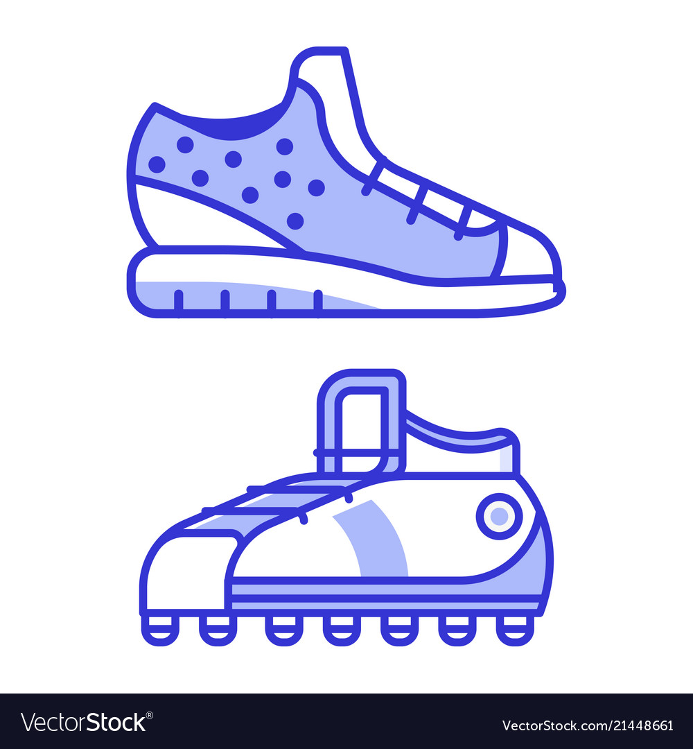 Sport running shoes icons