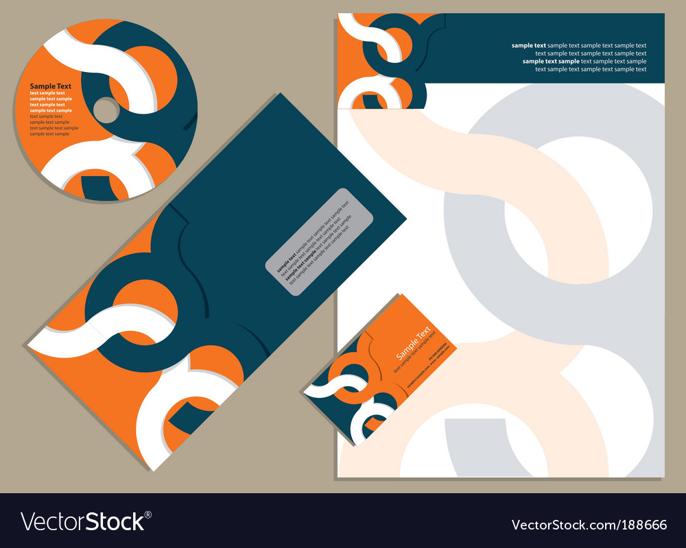 Letterhead template design royalty free vector image letterhead template design vector image spiritdancerdesigns Gallery