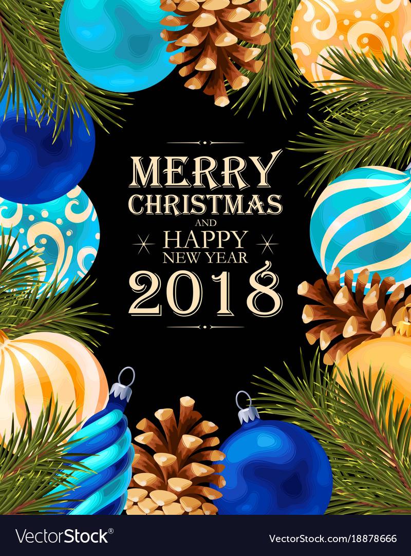 Merry christmas greeting postcard royalty free vector image merry christmas greeting postcard vector image m4hsunfo