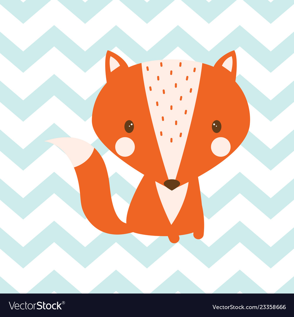 Seamless fox pattern