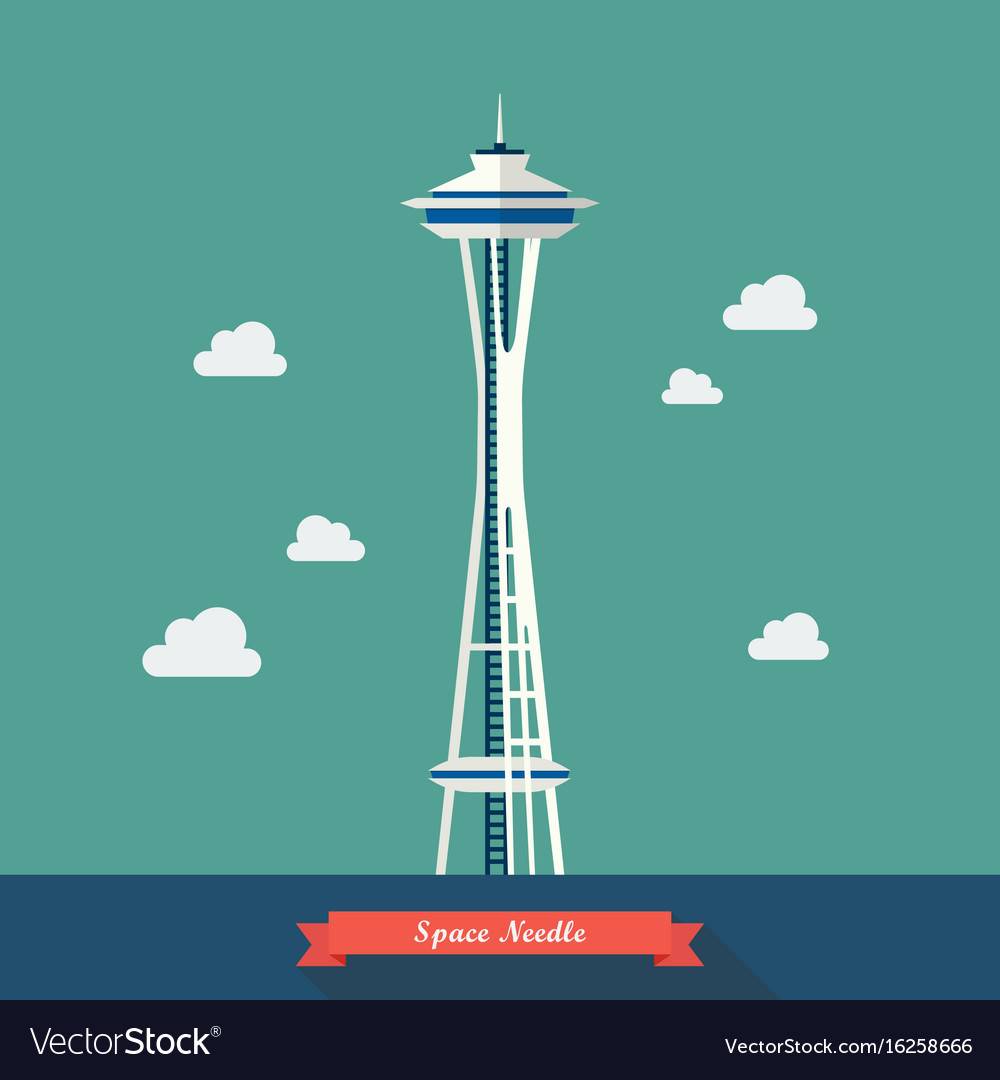 Space needle observation tower in seattle