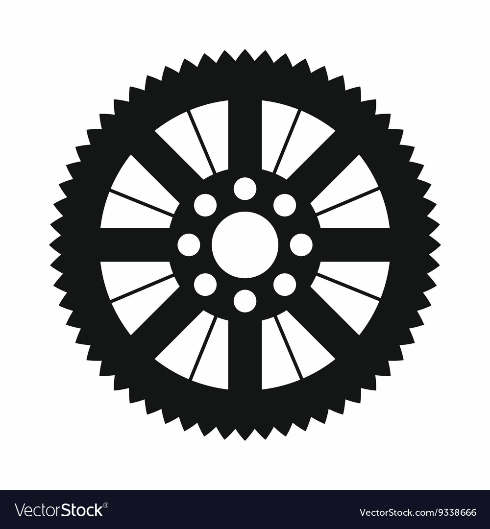 Sprocket from bike icon simple style