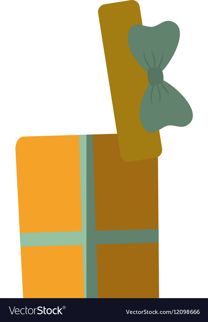 Yellow open gift boxes with bow color shadow vector image