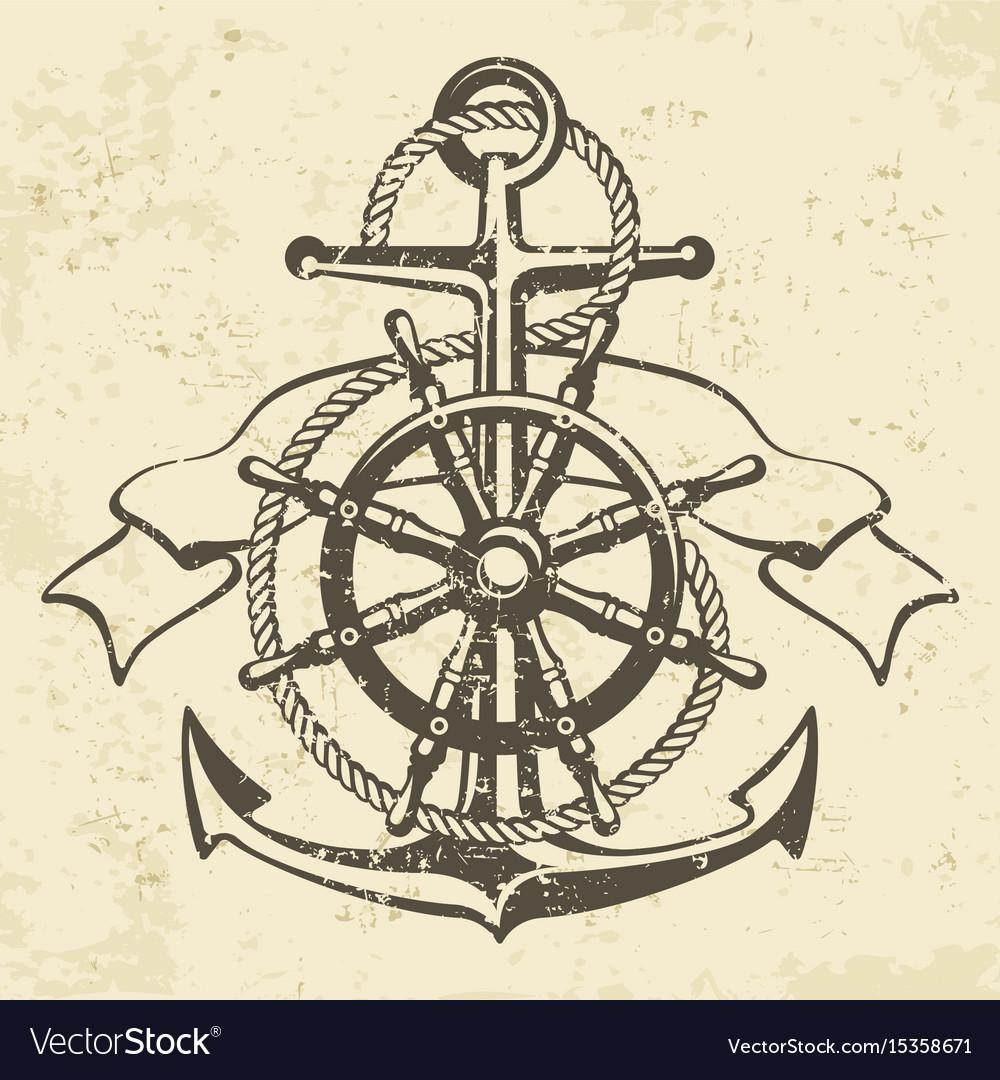 Anchor symbol badge grange