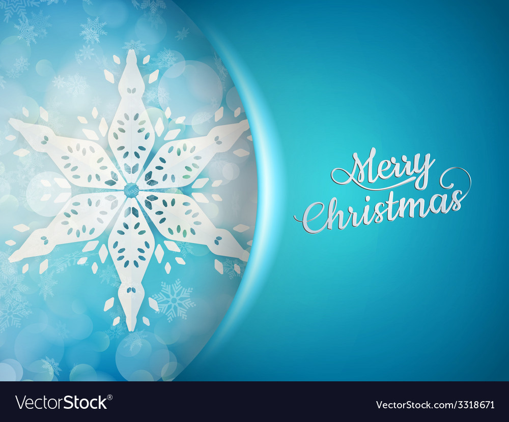 Blue xmas background with snowflakes EPS 10