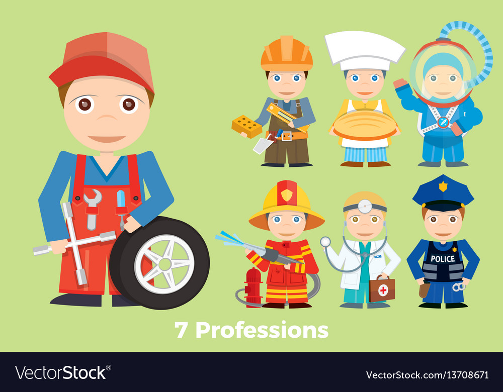 Childrens people profession young children are