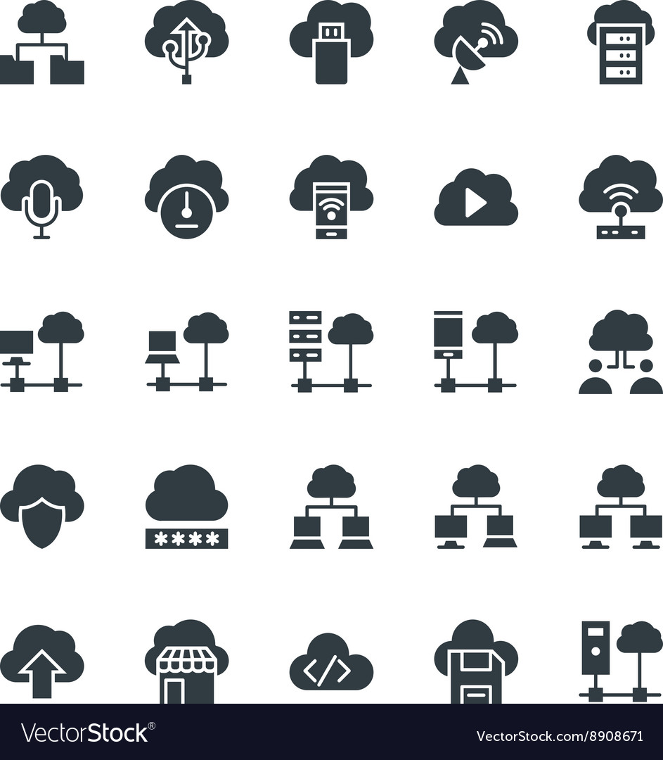 Cloud Computing Cool Icons 3