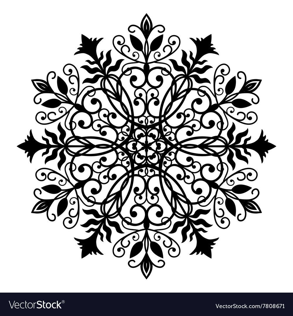 Floral Forged Round Ornament Royalty Free Vector Image