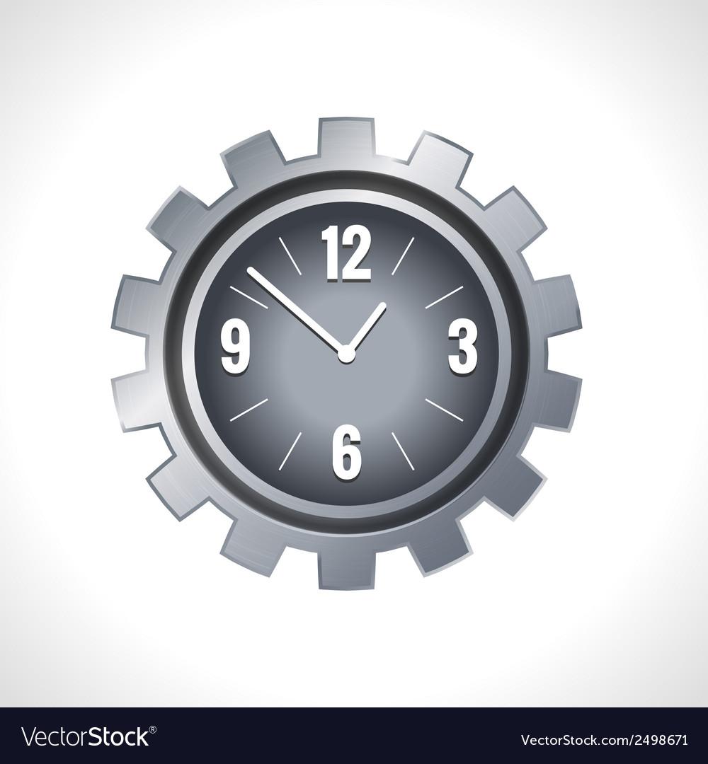 Metal gear clock vector image