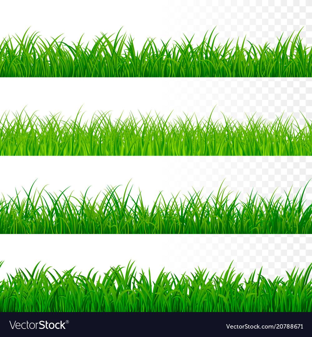 Seamless horizontal grass border green grass
