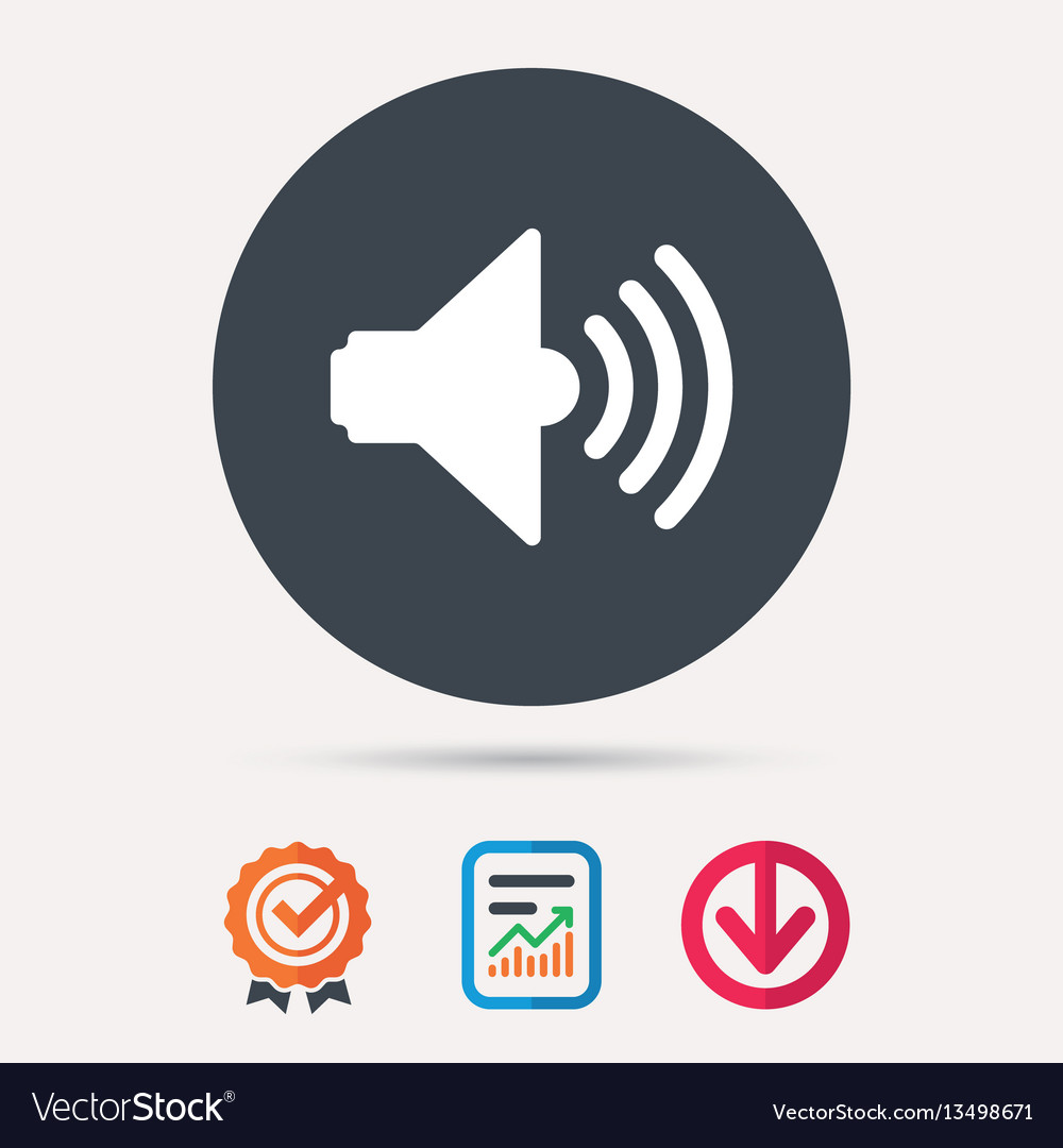 Sound icon music dynamic sign vector image