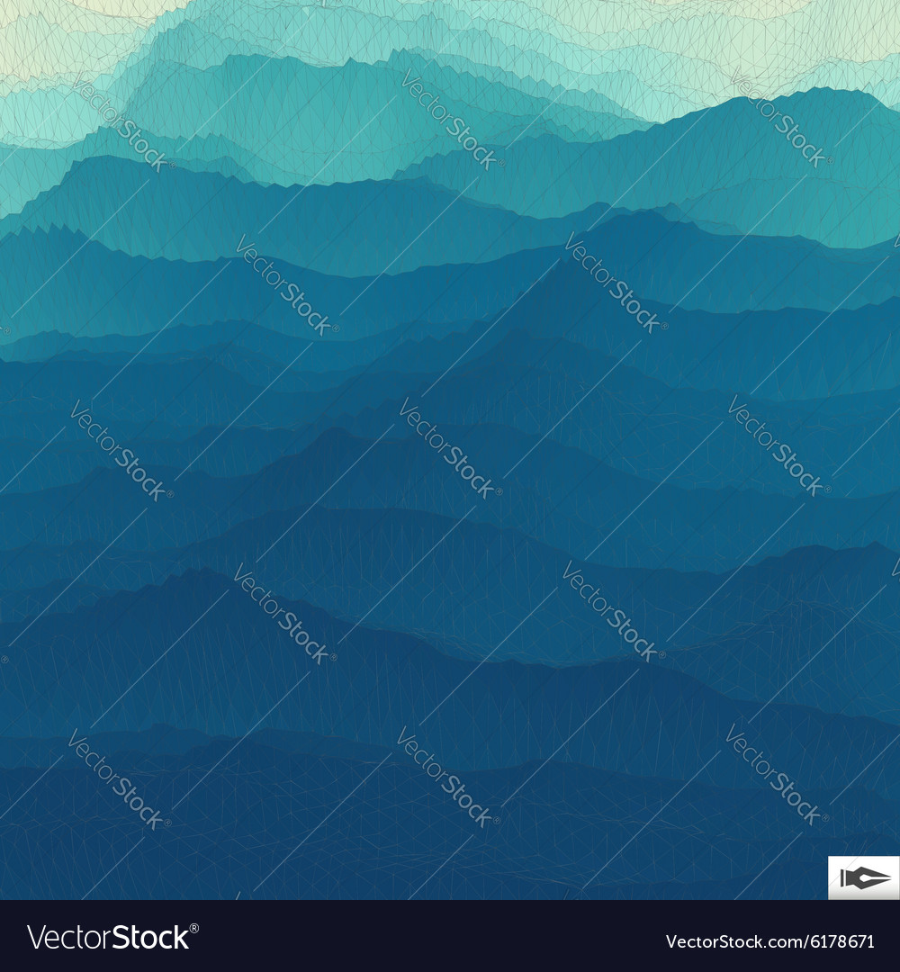 Water Surface Wavy Grid Background Mosaic vector image