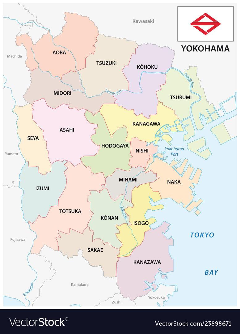 Yokohama administrative and political map with on hilla map, asahikawa map, suginami map, taiohae map, nakameguro map, pusan map, nagasaki map, gotemba map, hokkaido map, honshu map, osaka map, kyoto map, japan map, kobe map, kanagawa map, shonan map, nagoya map, manila map, kawasaki map, taipei map,