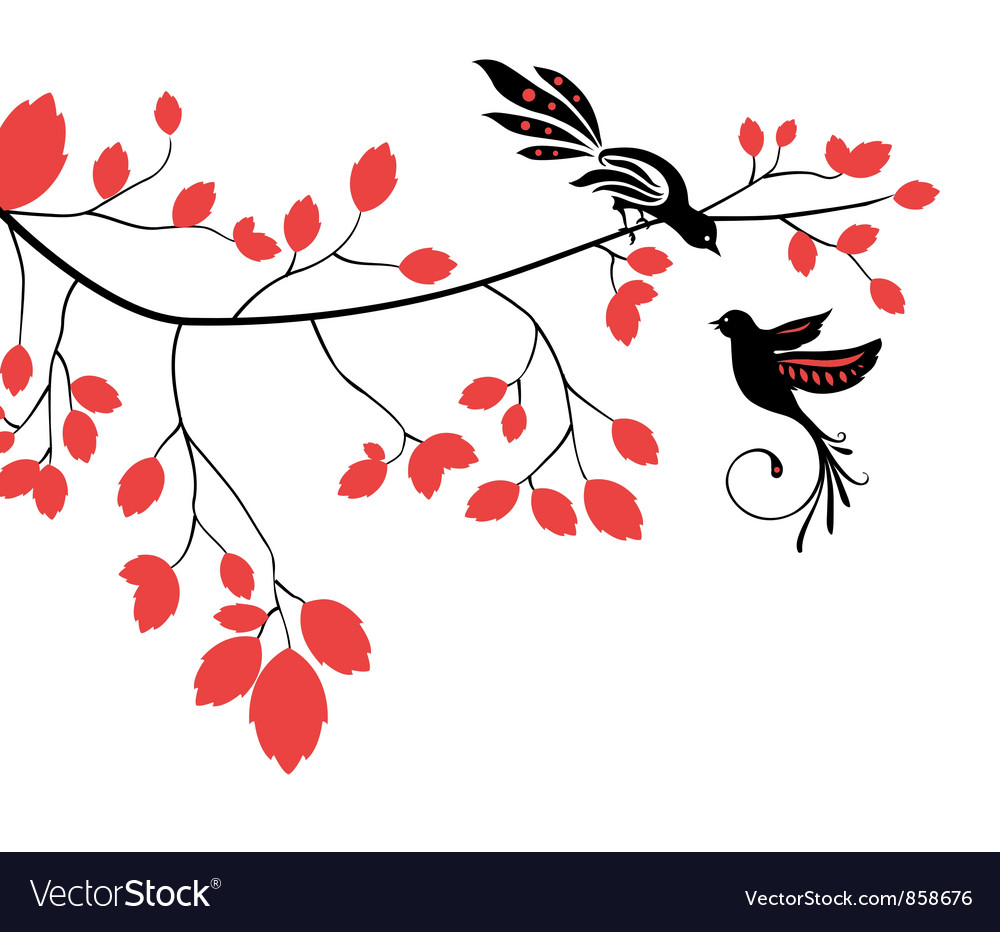 Abstract background with birds vector image