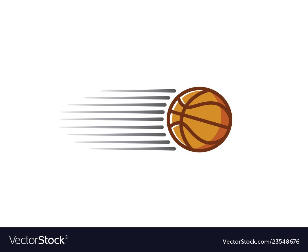 Basketball swoosh logo design