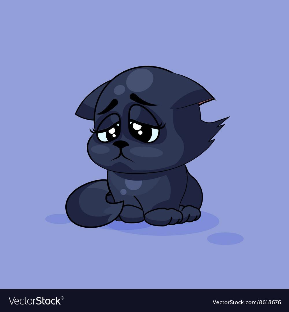 Картинки грустных котиков мультяшных