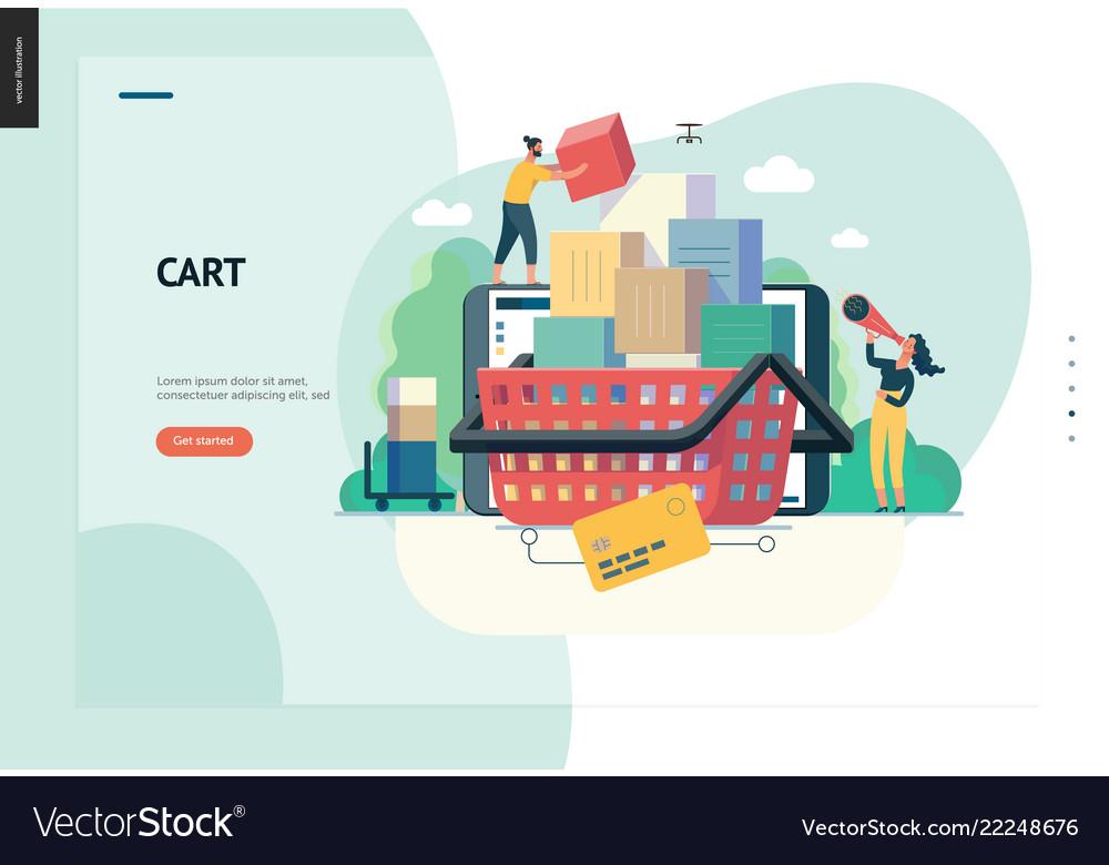 Business series - cart web template
