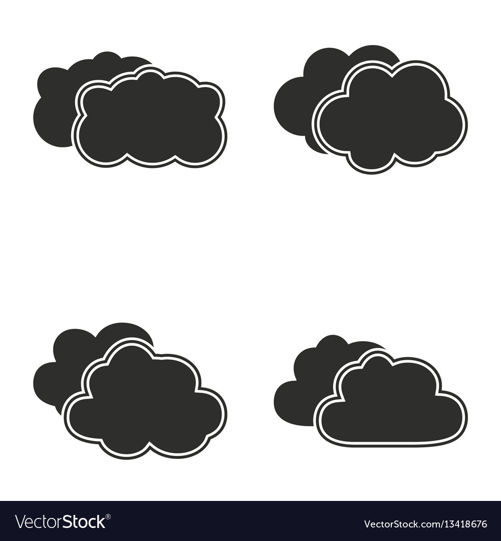 Clouds sky icon set