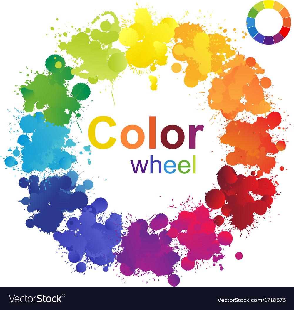 Color Wheel Royalty Free Vector Image Vectorstock