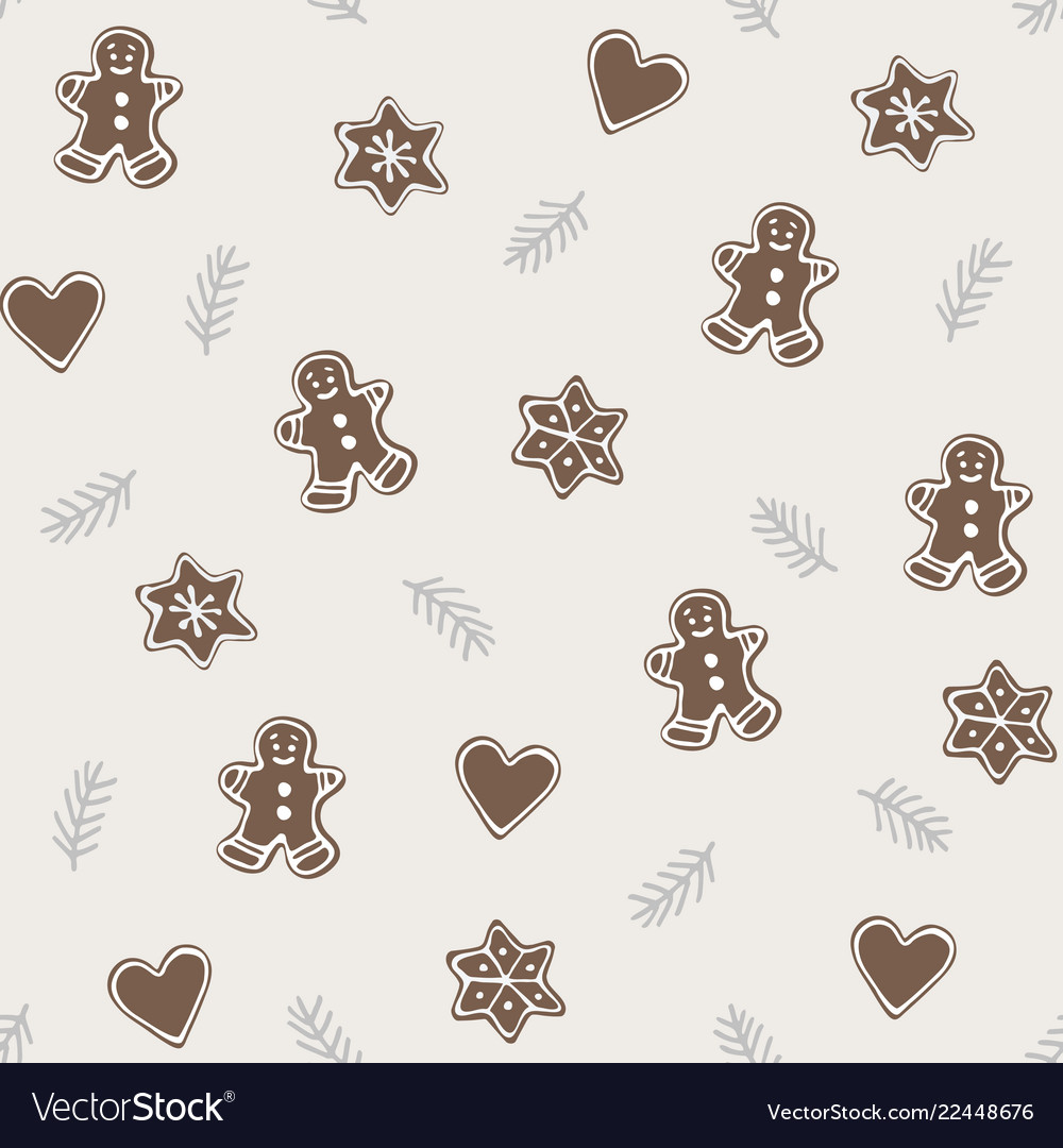 Cute christmas seamless pattern with various