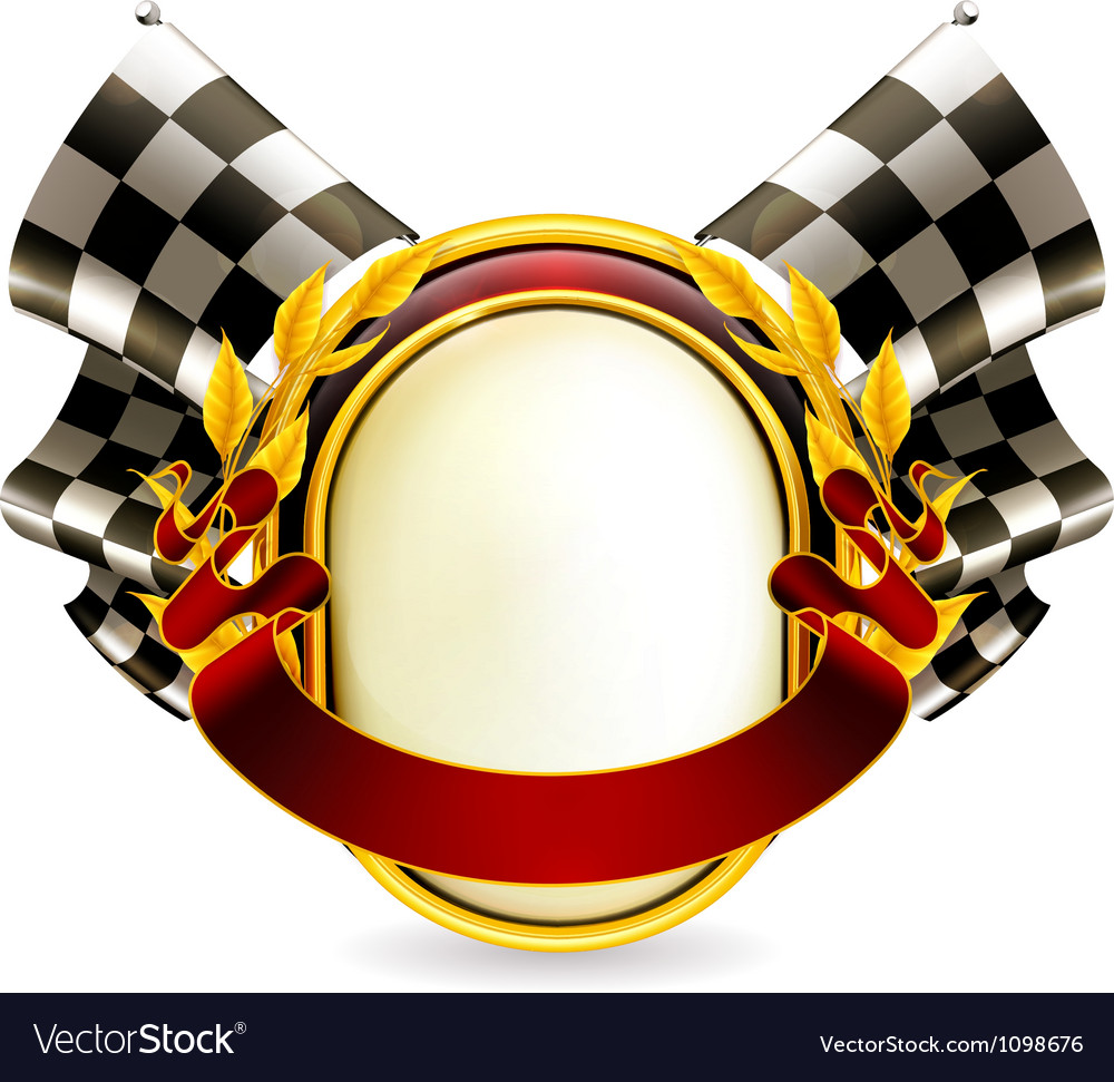 Flag checkered emblem