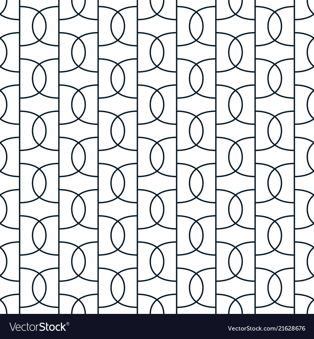 Geometric abstract seamless pattern linear simple