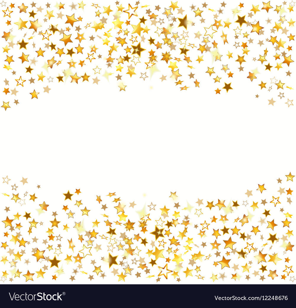 gold stars holiday background royalty free vector image