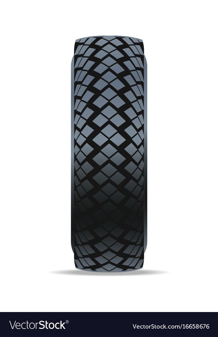 Modern machine tire icon