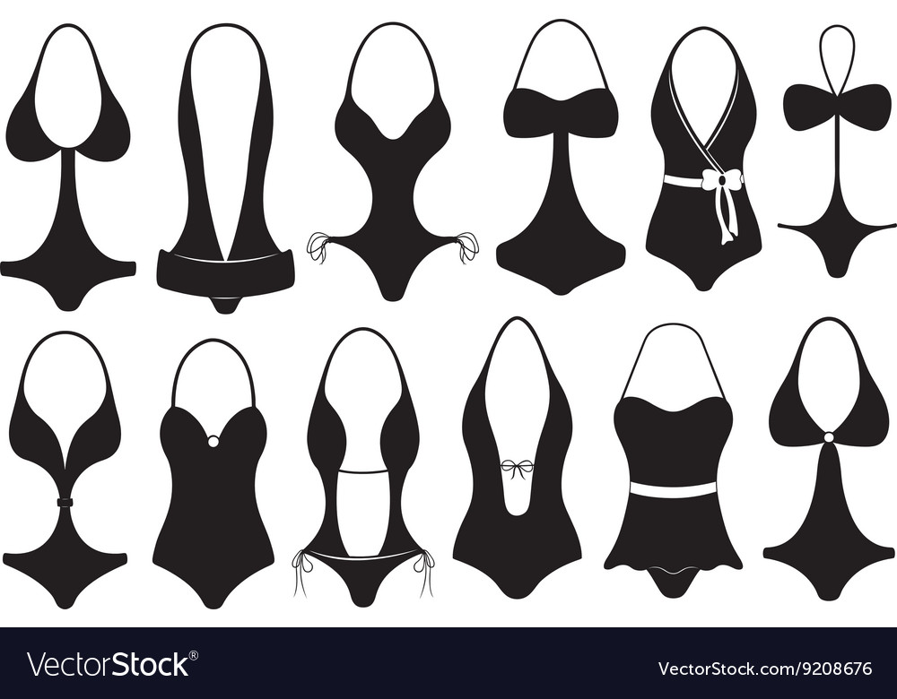 Set of different swimsuits vector image