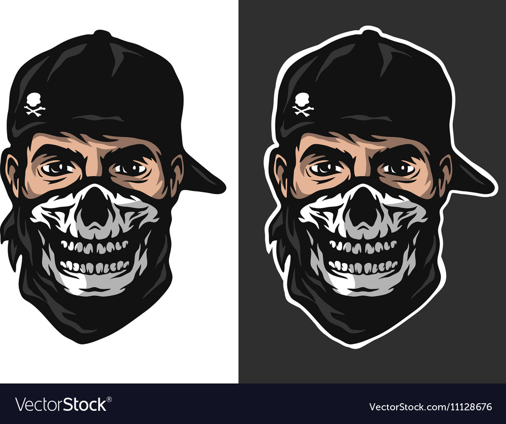 The guy in bandana with a skull pattern