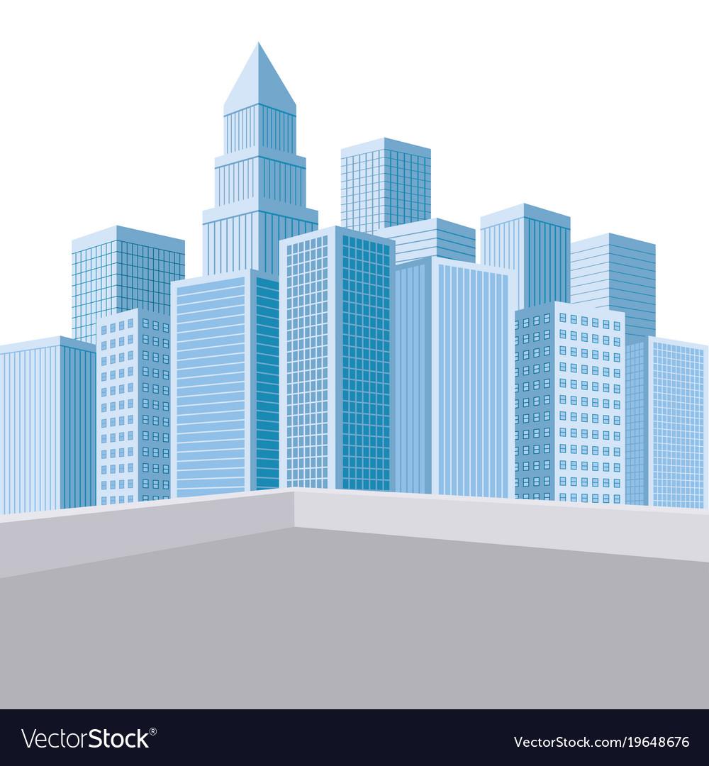 urban landscape skyscrapers royalty free vector image rh vectorstock com london skyscraper vector skyscraper building vector
