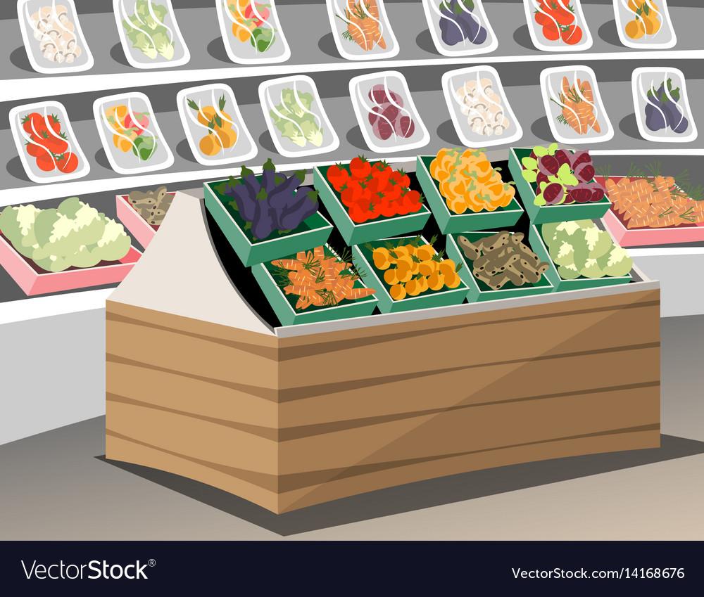 Vegetables shop fresh healthy vegetables in