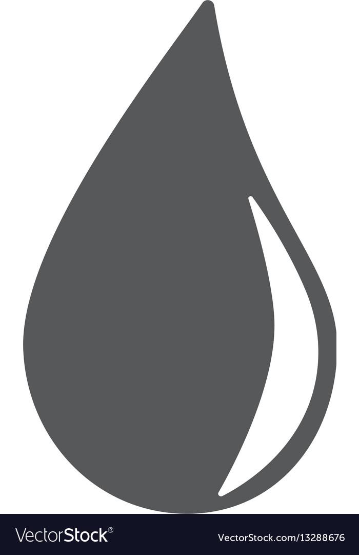 Water drop icon eps10 vector image