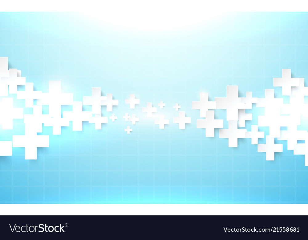 Abstract geometric medical cross shape background