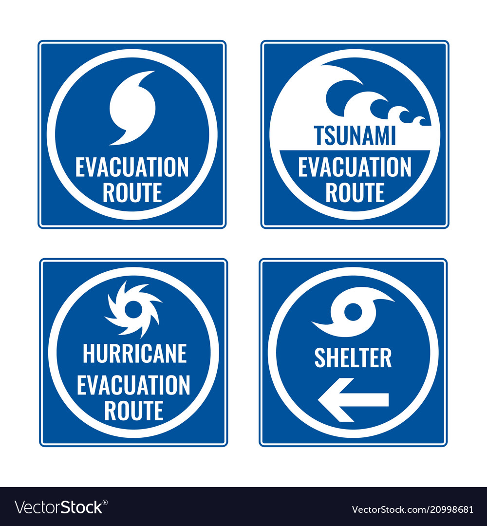 Evacuation route and shelter in case of tsunami or