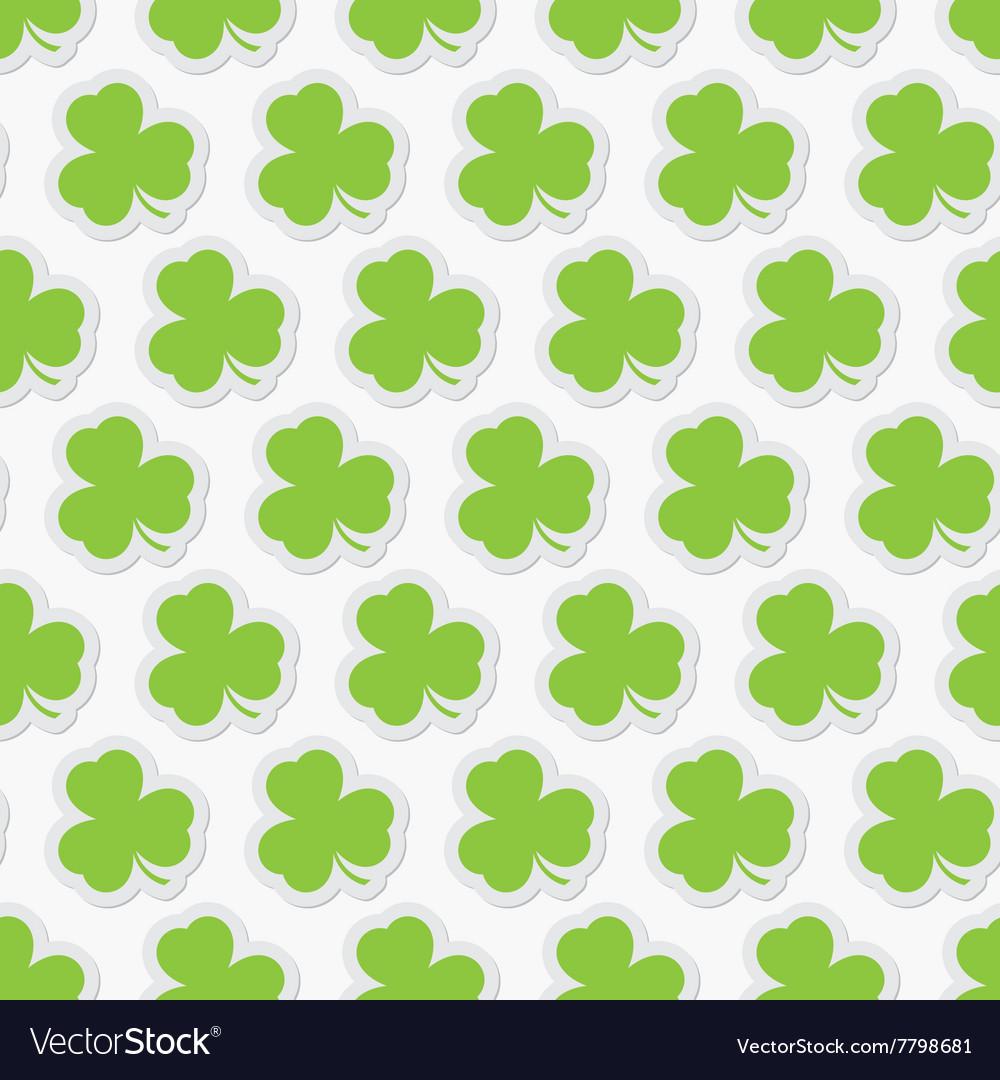 Seamless - green shamrocks