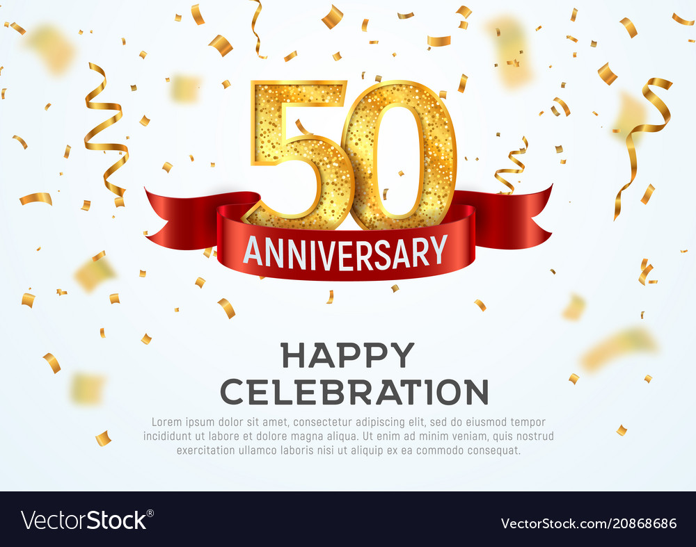 50 years anniversary banner template fifty