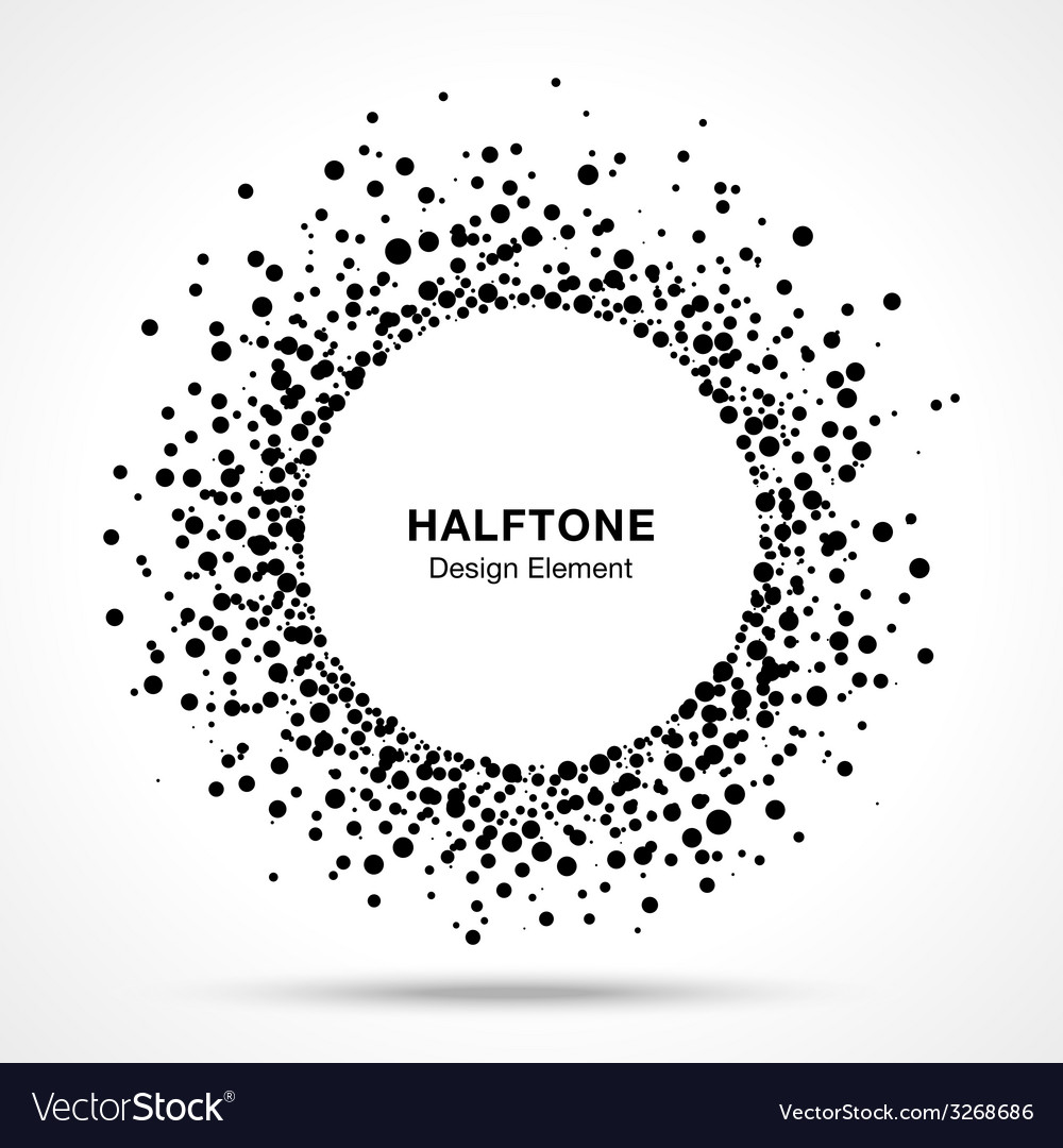 Black Abstract Halftone Logo Design Element vector image