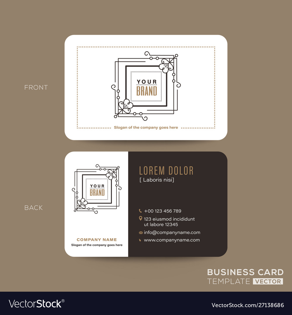 Classic vintage business card namecard design