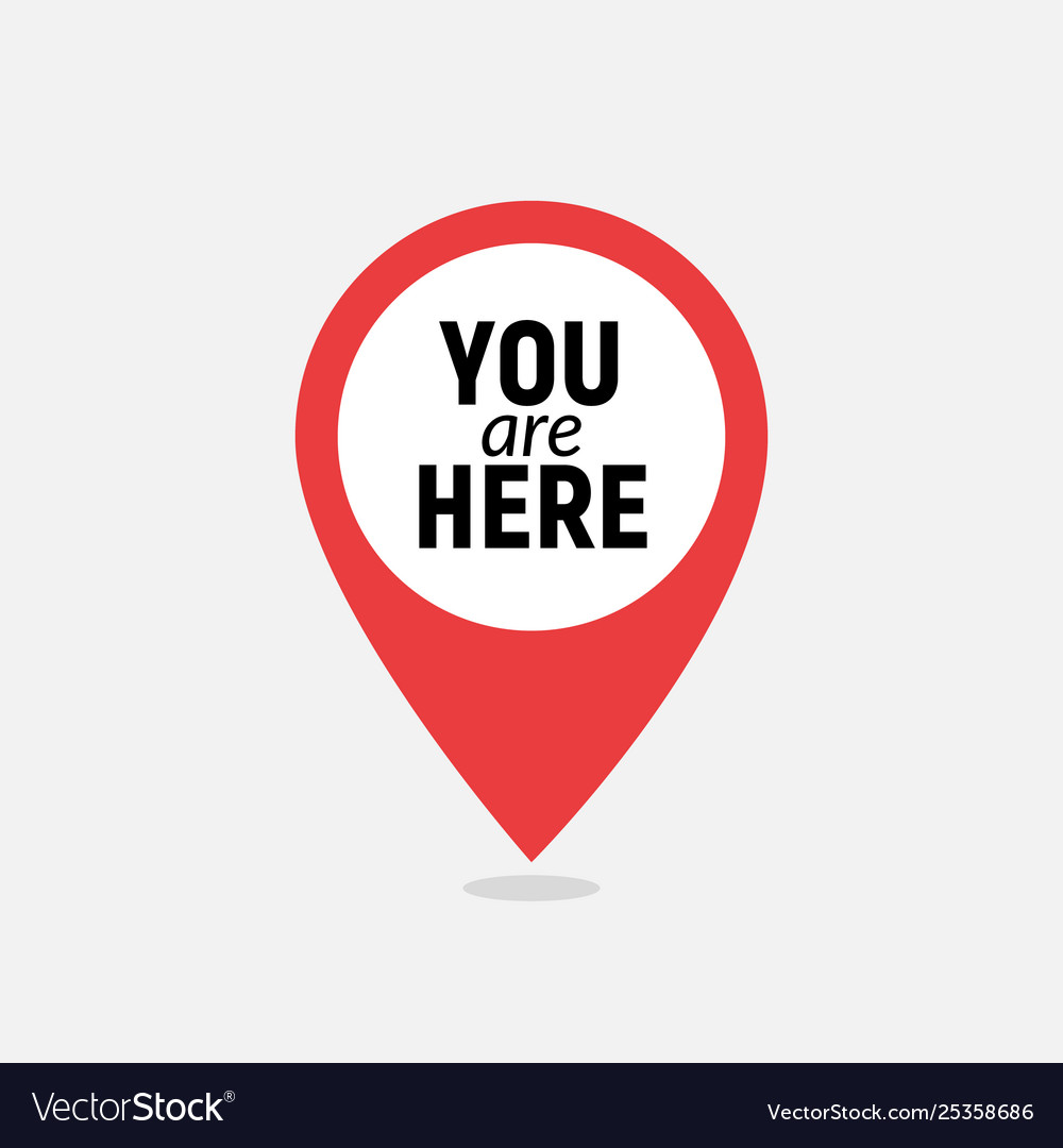 You are here sign icon mark destination or