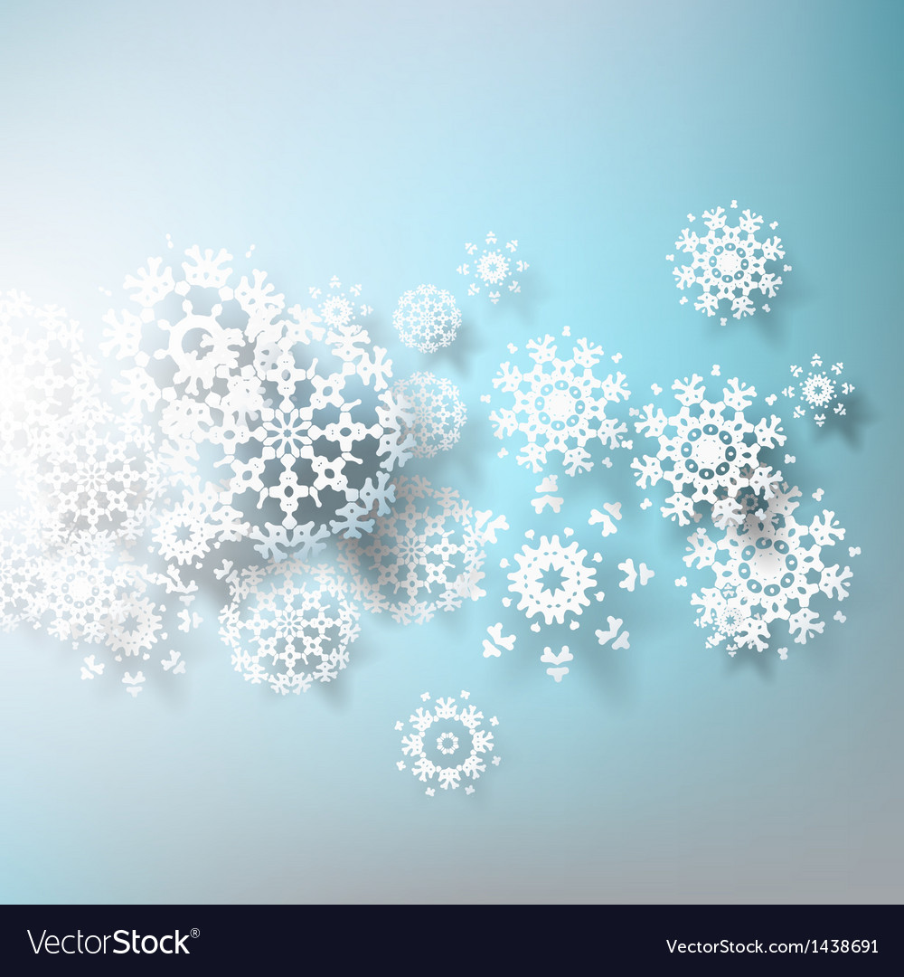 abstract 3d snowflakes design template eps 10 vector image