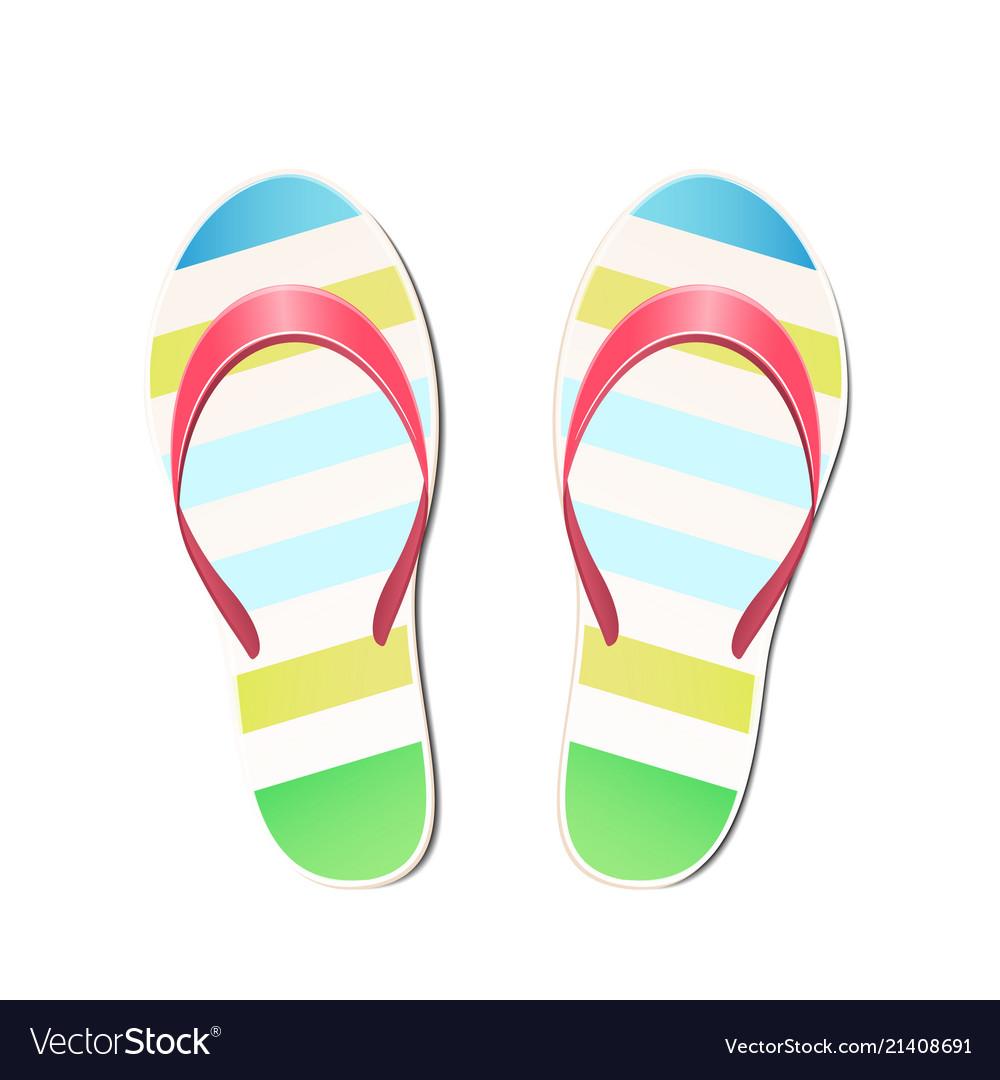 Beach slippers summer symbol