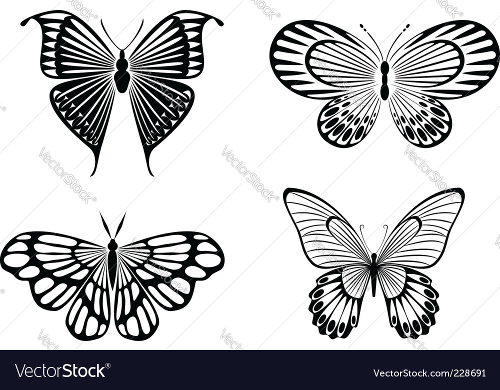 Butterfly tattoos vector 228691 - by Seamartini