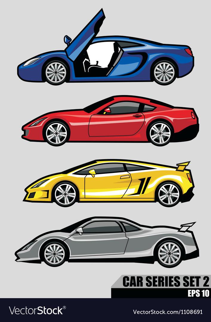 Cars series set 2 vector image