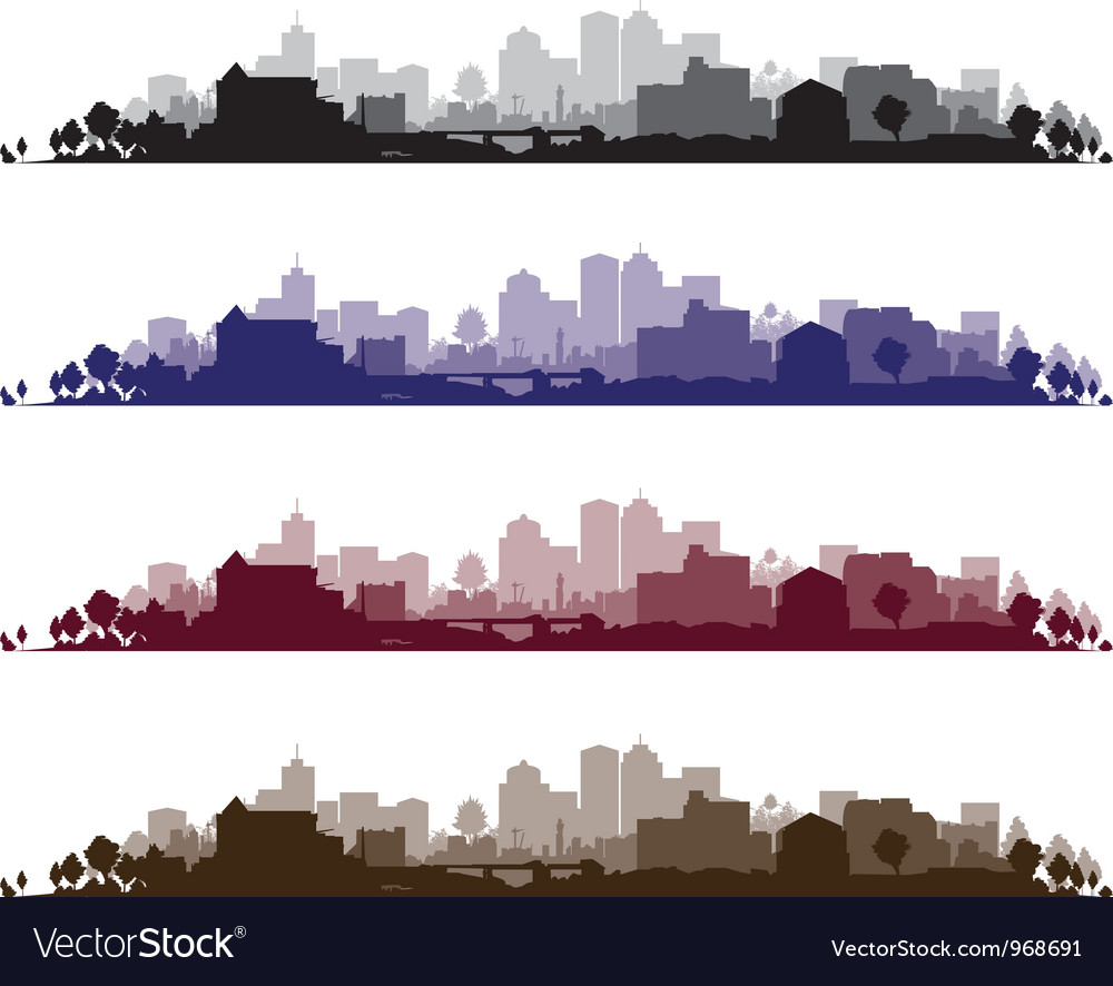 Cityscape wide set