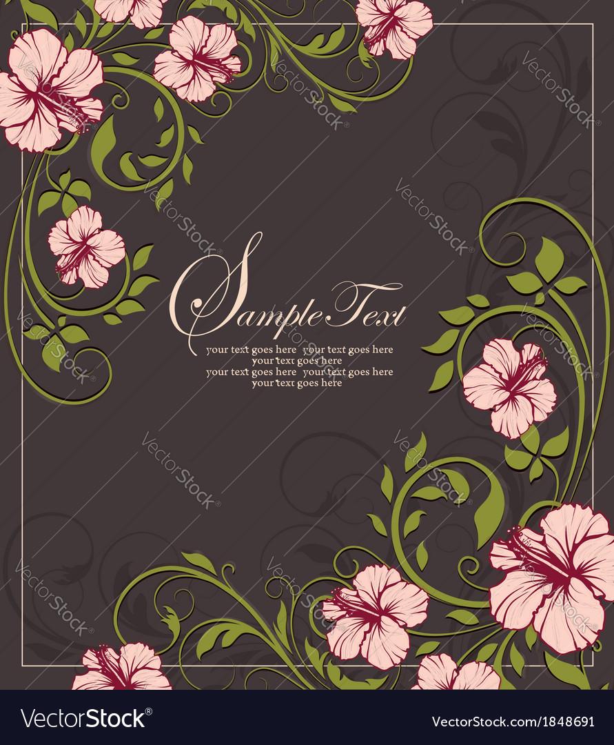 Elegant vintage floral invitation card