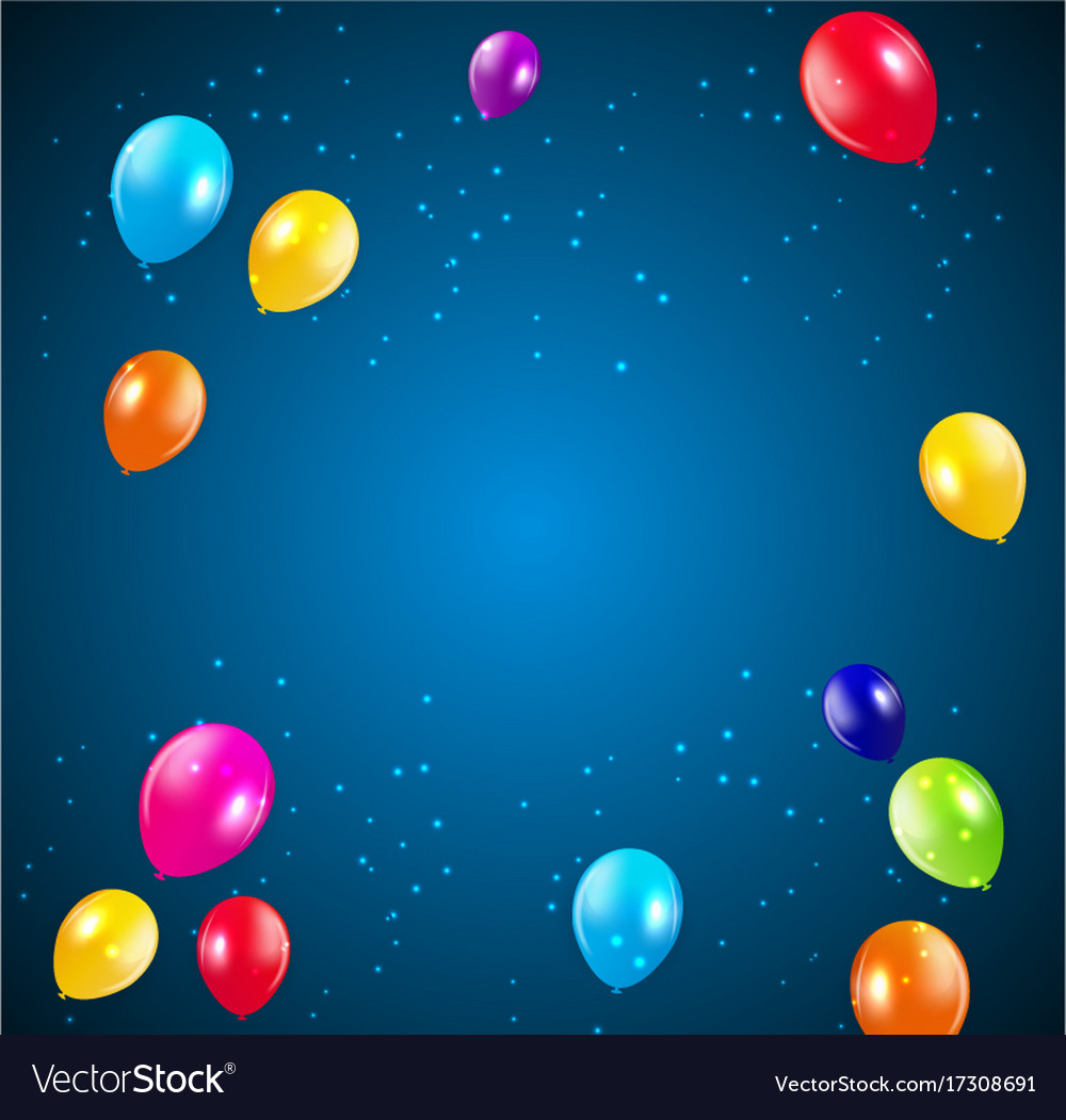 Happy Birthday Party Background With Flags And Vector Image