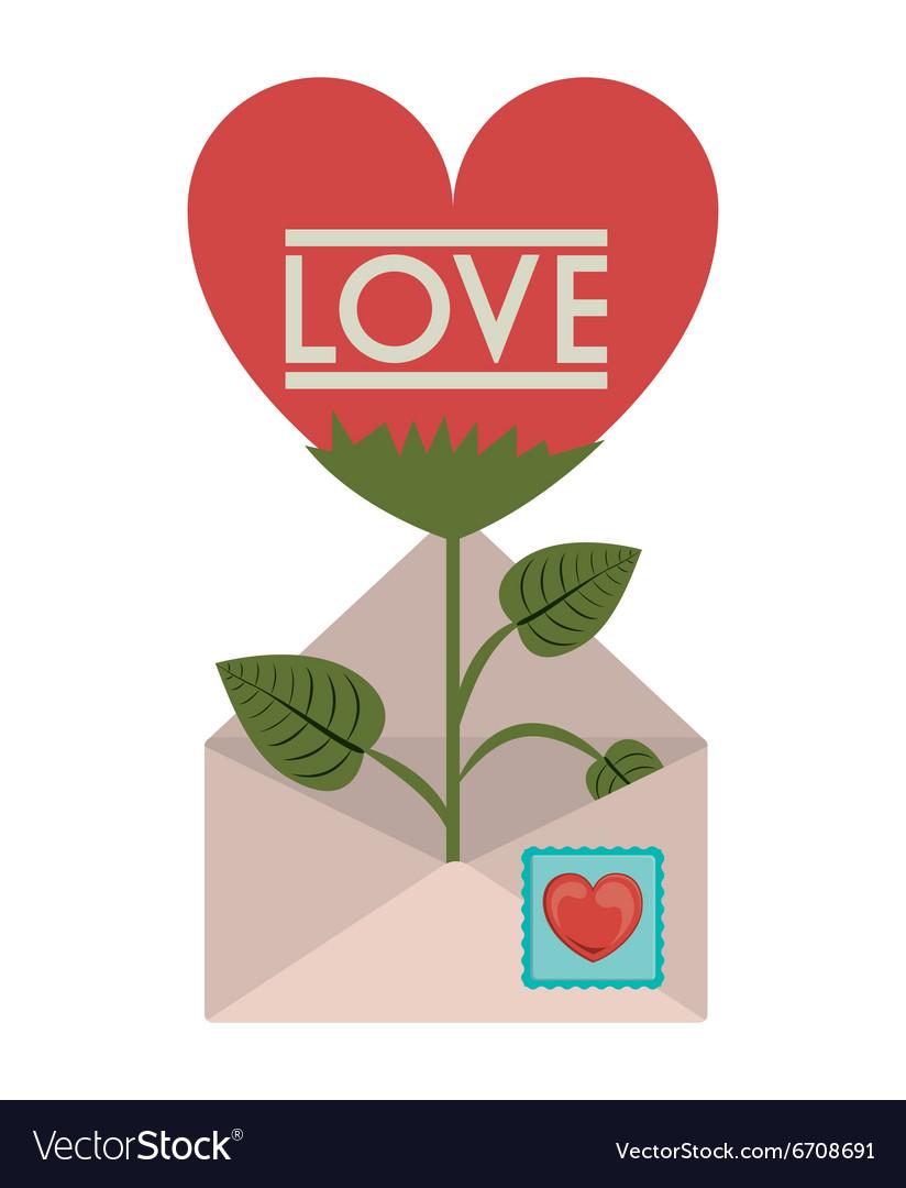 love letter design vector image
