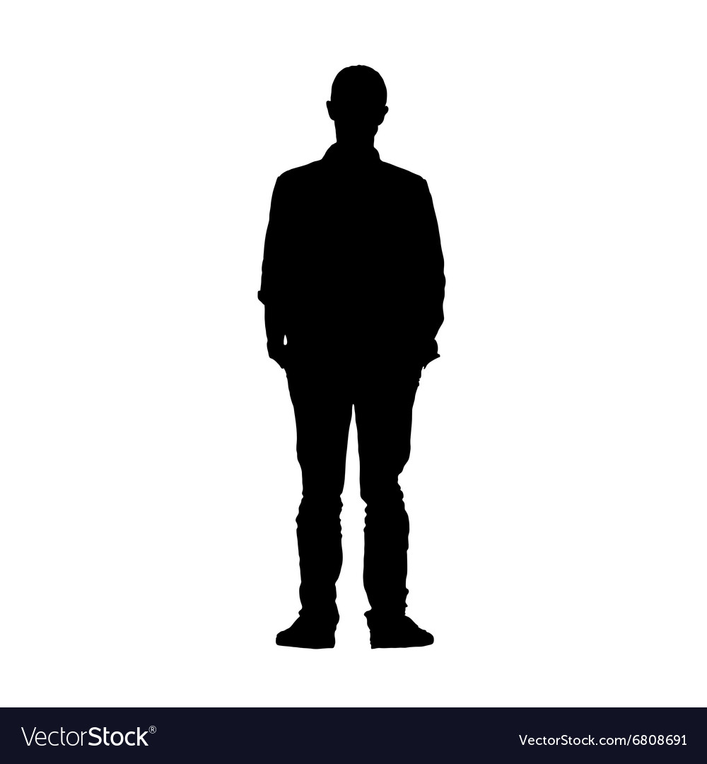 Man black silhouette