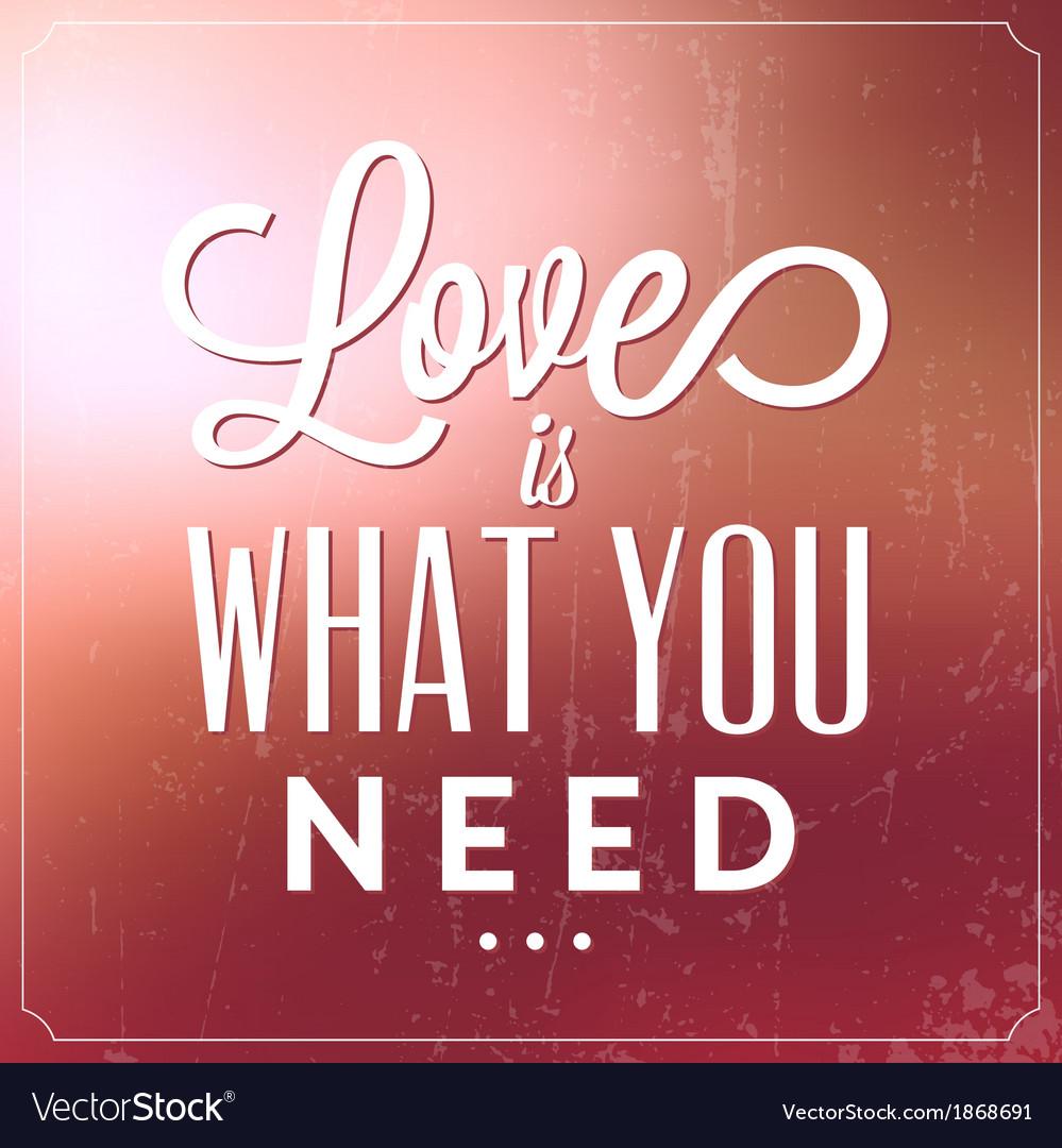 Romantic Typographic Valentines Day Quote